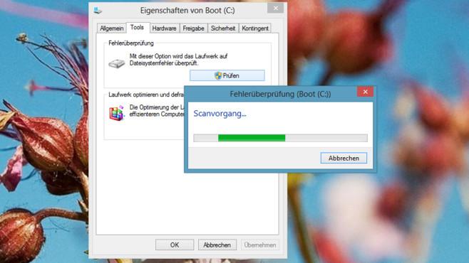 Festplatten-Fehlerüberprüfung ©COMPUTER BILD