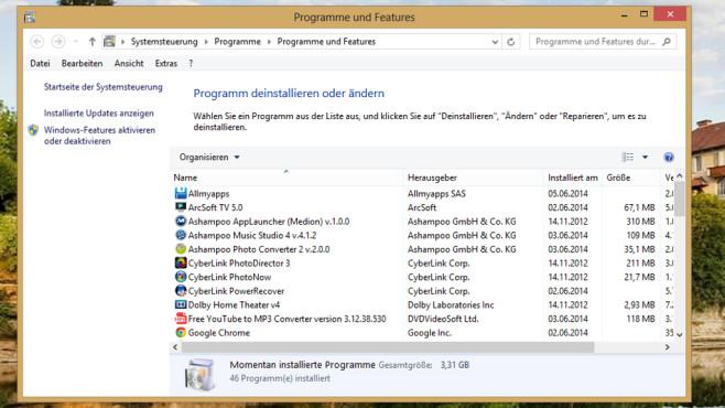 Programme und Features ©COMPUTER BILD