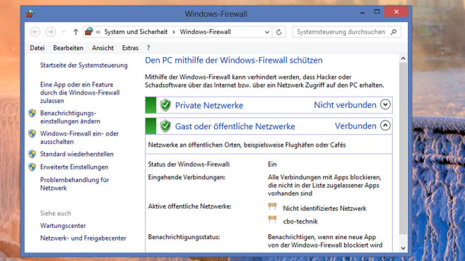 Windows-Firewall © COMPUTER BILD