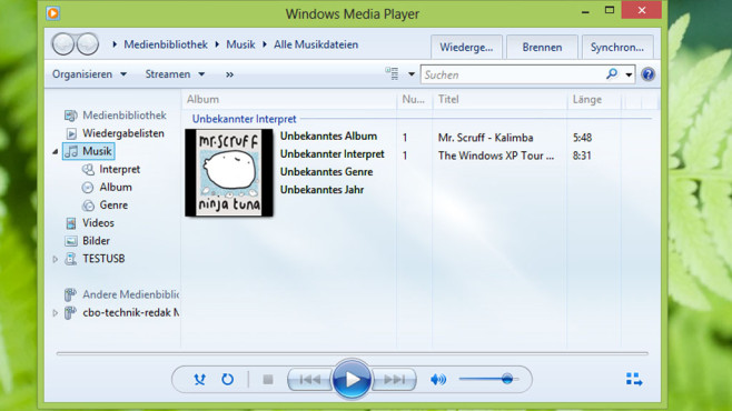 Windows Media Player © COMPUTER BILD