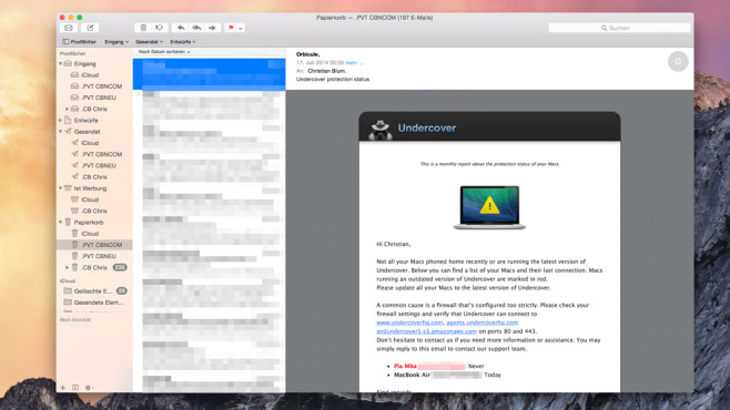 Yosemite Mail © Apple