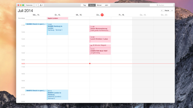 iCal Week © Apple