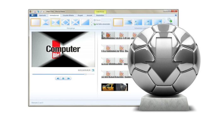 Windows Movie Maker 2012 © COMPUTER BILD, marog-pixcells – fotolia.com
