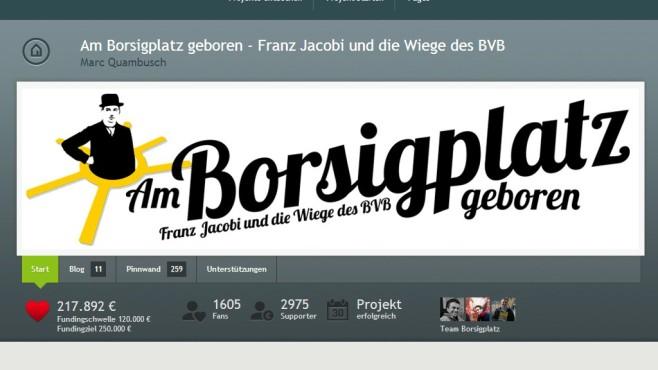 Dokumentation über den BVB ©Marc Quambusch / Startnext