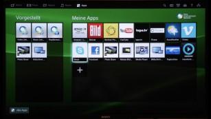 Sony KDL-50W805 Apps ©COMPUTER BILD