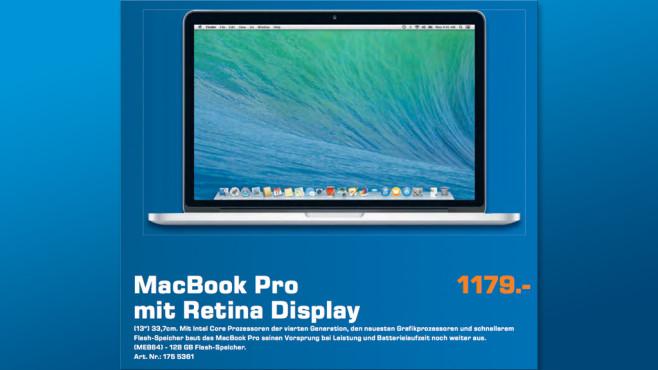 Apple MacBook Pro mit Retina Display 13,3 ©Saturn