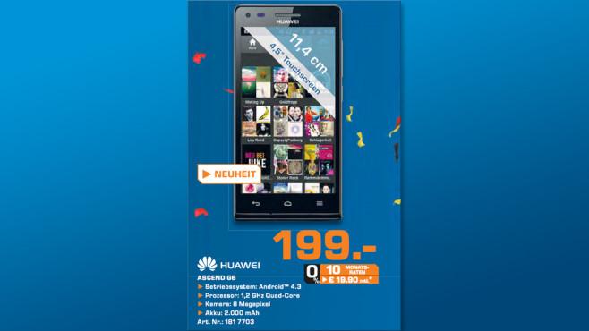 Huawei Ascend G6 ©Saturn