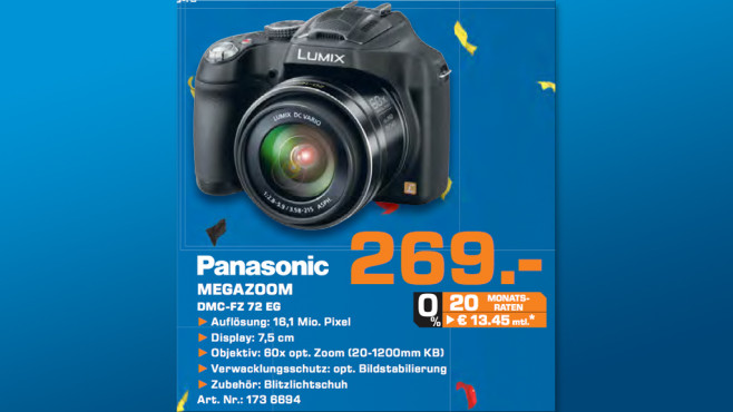 Panasonic Lumix DMC-FZ 72 ©Saturn