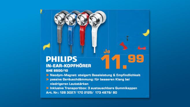 Philips SHE 8500 ©Saturn