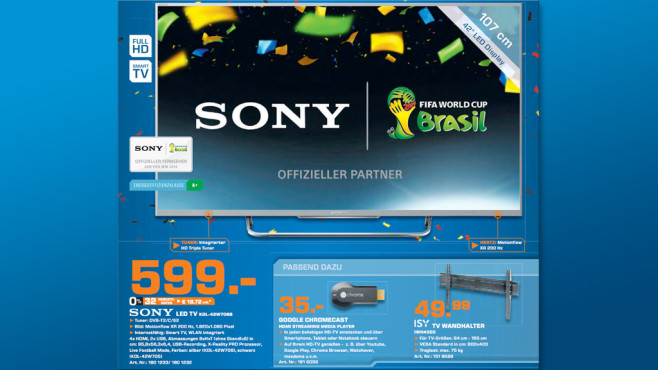 Sony KDL-42W706B ©Saturn