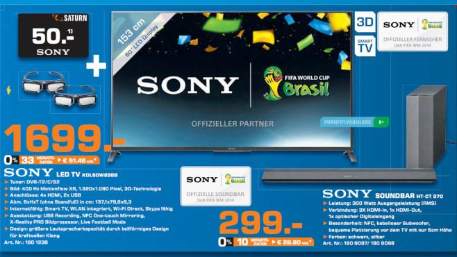 Sony KDL-60W855B ©Saturn