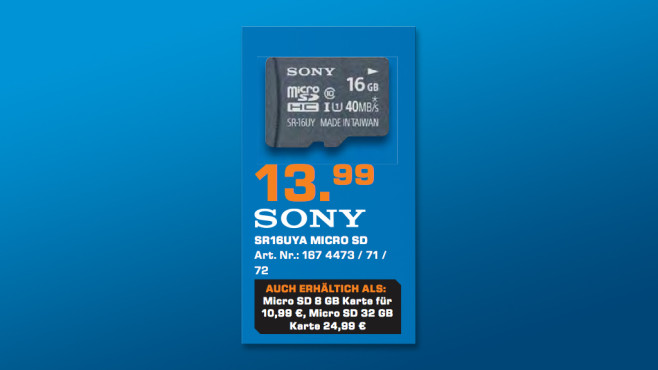 Sony microSDHC 32GB Class 10 UHS-I (SR32UYA) ©Saturn