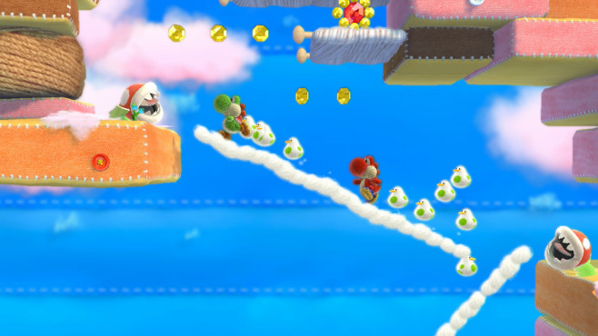 Yoshi's Wooly World: Neue Bilder zum Plattformer © Nintendo, Good-Feel
