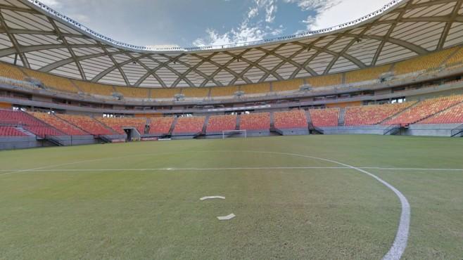 Arena da Amazônia (das frühere Estádio Vivaldo Lima), Manaus ©Google Street View