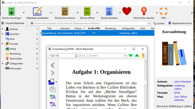 Calibre: Format von E-Books ändern ©COMPUTER BILD