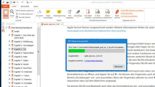 Nitro PDF Reader: Texte und Bilder aus PDFs holen ©COMPUTER BILD