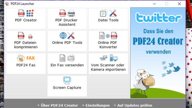 PDF24 Creator: PDFs erstellen und komprimieren ©COMPUTER BILD