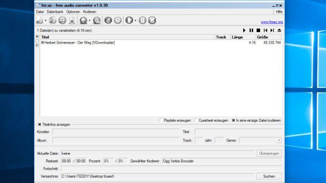 fre:ac (Free Audio Converter) ©COMPUTER BILD