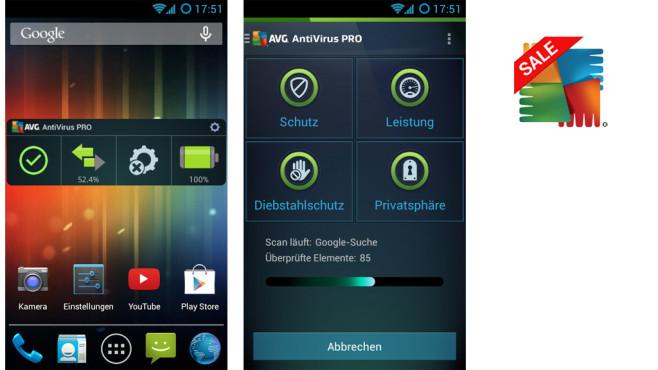 Antivirus PRO für Mobilgeräte ©AVG Mobile