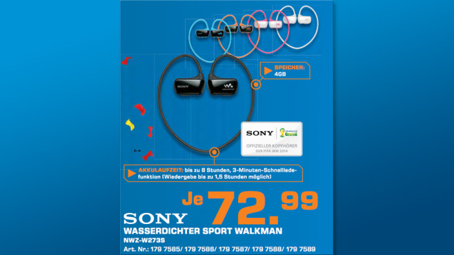 Sony Walkman NWZ-W273S 4GB © Saturn