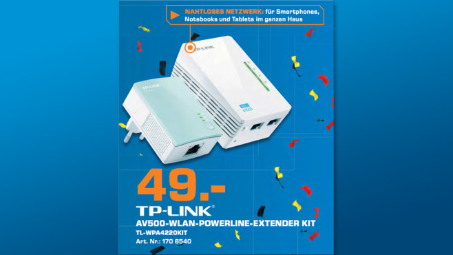 TP-LINK WiFi N Powerline AV500 Extender Starter Kit (TL-WPA4220KIT) © Saturn