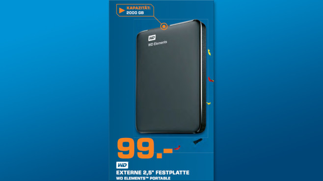 Western Digital Elements Portable 2TB © Saturn