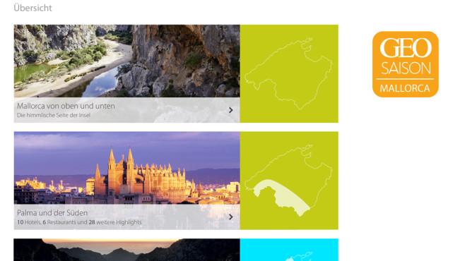 GEO Saison Mallorca 2014 ©GEO Zeitschriftengruppe © Gruner + Jahr