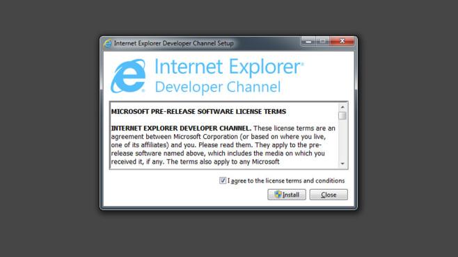 Internet Explorer: Devoloper Channel ©COMPUTER BILD