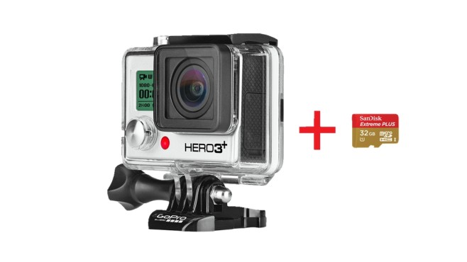 GoPro HERO3+ Black Edition mit microSDHC-Speicherkarte mit 32 GB ©Media Markt