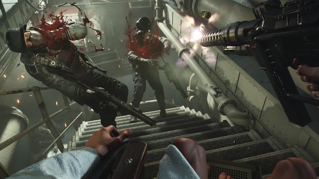 """Wolfenstein 2 – The New Colossus: Kampfsau! In """"Wolfenstein 2 – The New Collossus"""" geht es Nazis wieder brisant-brutal an den Kragen. ©Bethesda"""