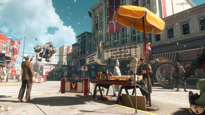 Wolfenstein 2 – The New Colossus: Kampfsau! Natürlich sind auch im zweiten Teil wieder Roboter am Start. ©Bethesda