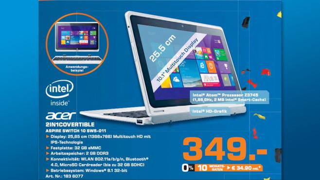 Acer Aspire Switch 10 (NX.L47EG.002) ©Saturn
