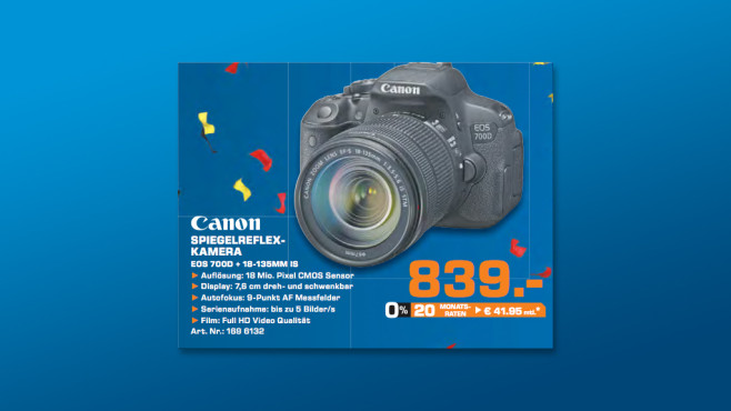 Canon EOS 700D Kit 18-135 mm [Canon IS STM] © Saturn