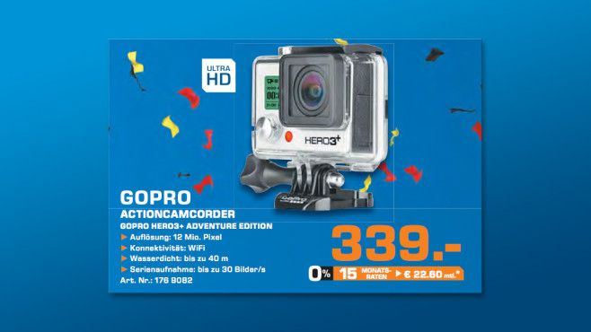 GoPro HERO3+ Black Edition © Saturn