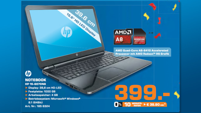 HP Notebook PC 15-G070NG © Saturn