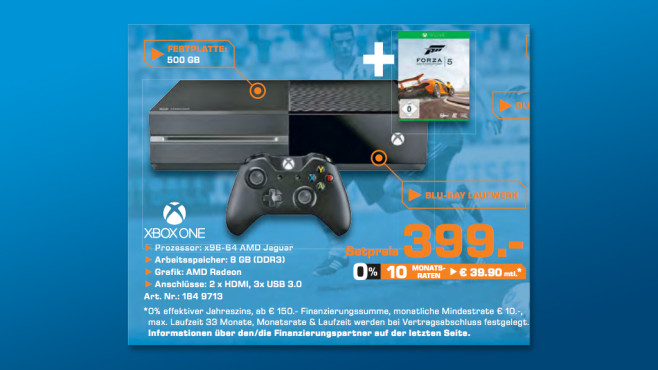 Microsoft Xbox One 500GB + Forza Motorsport 5 ©Saturn