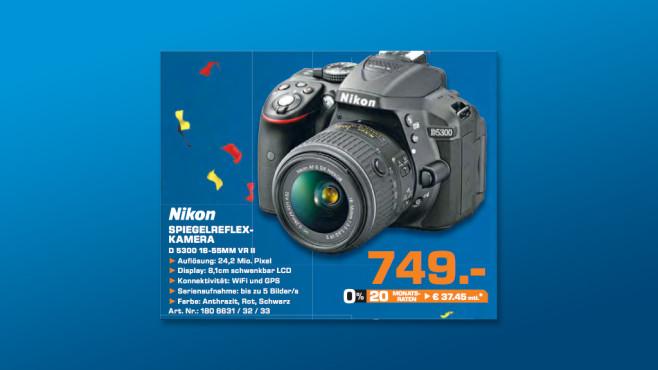 Nikon D5300 Kit 18-55 mm [Nikon VR II] (schwarz) ©Saturn