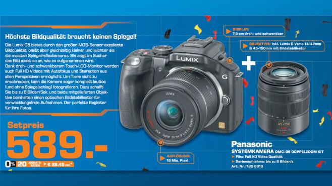 Panasonic Lumix DMC-G5 Kit 14-42 mm + 45-150 mm ©Saturn