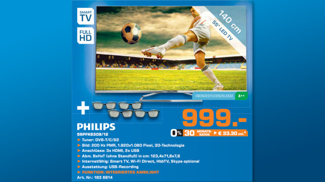 Philips 55PFK6309 © Saturn