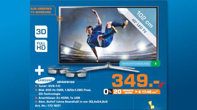 Samsung UE40F6100 ©Saturn