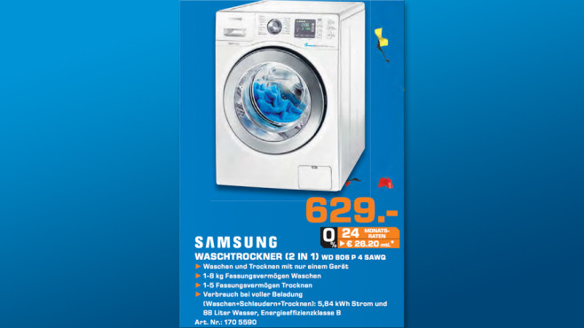 Samsung WD806P4SAWQ ©Saturn