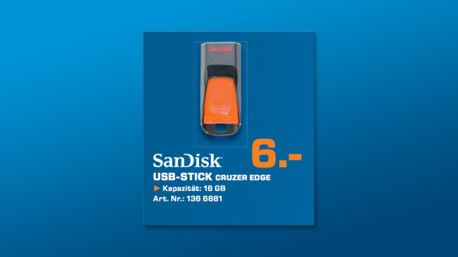 Sandisk Cruzer Edge 16GB © Saturn