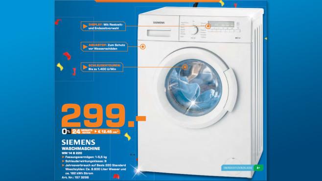 Siemens WM14B220 ©Saturn
