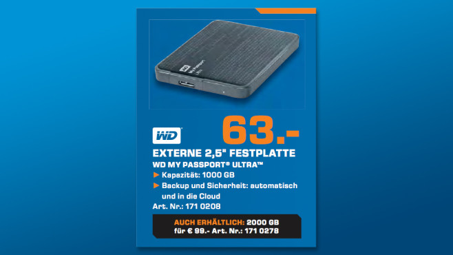 Western Digital My Passport Ultra 1TB © Saturn