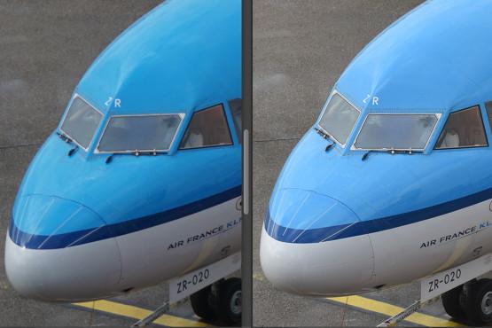 Nikon D810: Neue Vollformatkamera mit 36 Megapixeln Die Aufnahmen der Nikon D810 (rechtes Bild) sind extrem scharf. Das zeigt recht deutlich im direktem Vergleich mit Kameras mit kleinerem Sensor (hier die Sony Alpha 5100 mit APS-C-Sensor). ©COMPUTER BILD