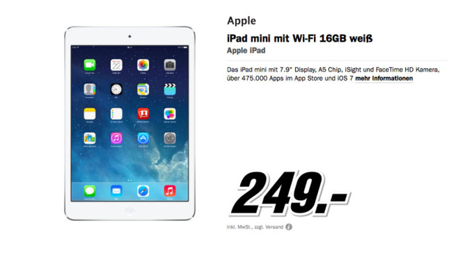 Apple iPad mini WiFi 16 Gigabyte © Media Markt
