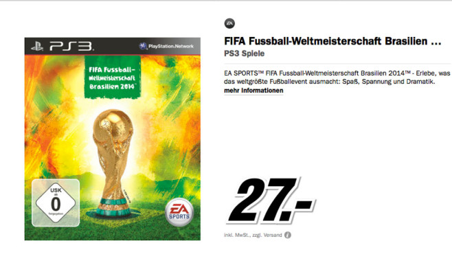 FIFA Fu�ball-Weltmeisterschaft Brasilien 2014 (PS3) © Media Markt