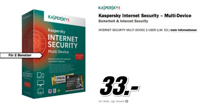 Kaspersky Internet Security – Multi-Device © Media Markt
