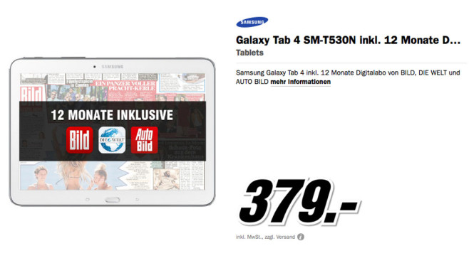 Samsung Galaxy Tab 4 © Media Markt