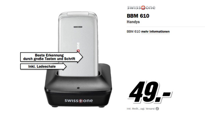 Swiss one BBM 610 © Media Markt